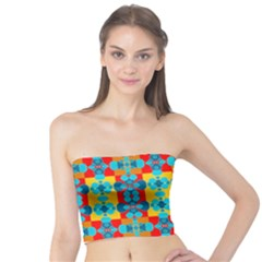 Pop Art Abstract Design Pattern Tube Top