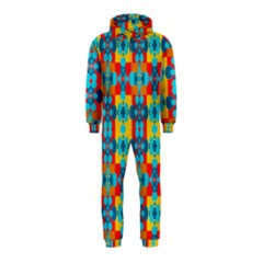 Pop Art Abstract Design Pattern Hooded Jumpsuit (Kids)
