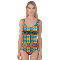 Pop Art Abstract Design Pattern Princess Tank Leotard
