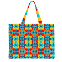 Pop Art Abstract Design Pattern Large Tote Bag
