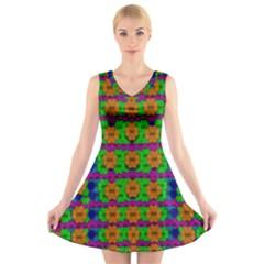 Gershwins Summertime V-Neck Sleeveless Skater Dress