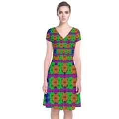 Gershwins Summertime Short Sleeve Front Wrap Dress