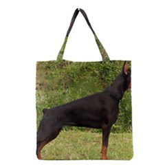 Doberman Pinscher Black Full Grocery Tote Bag
