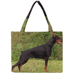 Doberman Pinscher Black Full Mini Tote Bag
