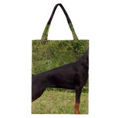 Doberman Pinscher Black Full Classic Tote Bag