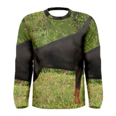 Doberman Pinscher Black Full Men s Long Sleeve Tee