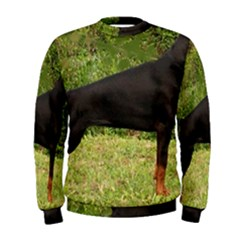 Doberman Pinscher Black Full Men s Sweatshirt