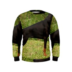Doberman Pinscher Black Full Kids  Sweatshirt
