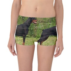 Doberman Pinscher Black Full Boyleg Bikini Bottoms