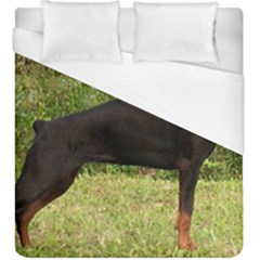 Doberman Pinscher Black Full Duvet Cover (King Size)