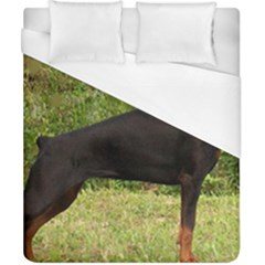 Doberman Pinscher Black Full Duvet Cover (California King Size)
