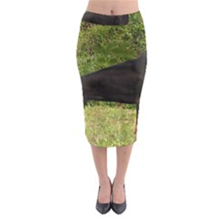 Doberman Pinscher Black Full Midi Pencil Skirt