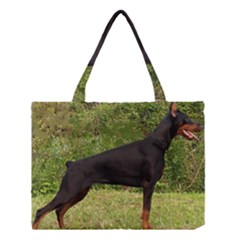 Doberman Pinscher Black Full Medium Tote Bag