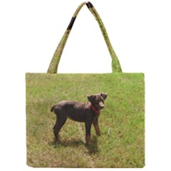 Red Doberman Puppy Mini Tote Bag