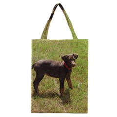 Red Doberman Puppy Classic Tote Bag