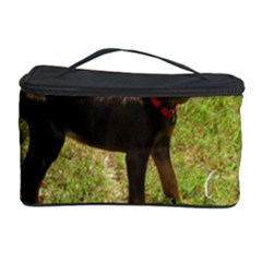 Red Doberman Puppy Cosmetic Storage Case