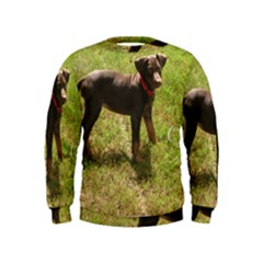 Red Doberman Puppy Kids  Sweatshirt