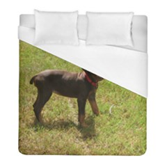 Red Doberman Puppy Duvet Cover (Full/ Double Size)
