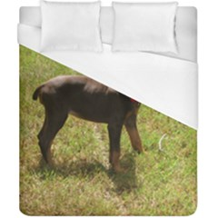 Red Doberman Puppy Duvet Cover (California King Size)