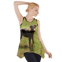 Red Doberman Puppy Side Drop Tank Tunic