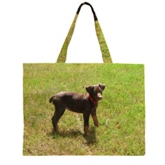 Red Doberman Puppy Large Tote Bag