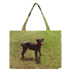 Red Doberman Puppy Medium Tote Bag