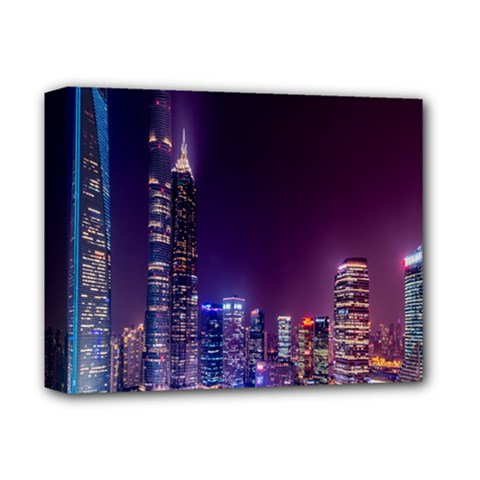 Raised Building Frame Deluxe Canvas 14  x 11