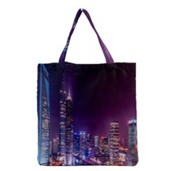 Raised Building Frame Grocery Tote Bag