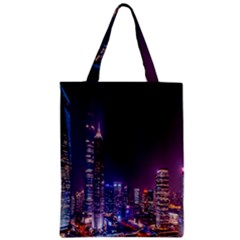 Raised Building Frame Zipper Classic Tote Bag
