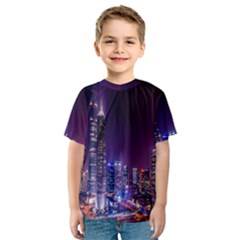 Raised Building Frame Kids  Sport Mesh Tee