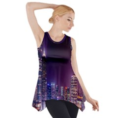 Raised Building Frame Side Drop Tank Tunic
