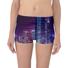 Raised Building Frame Reversible Bikini Bottoms