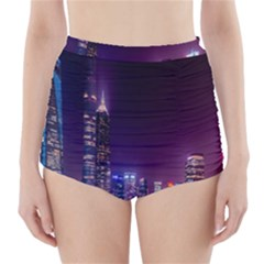 Raised Building Frame High Waisted Bikini Bottoms