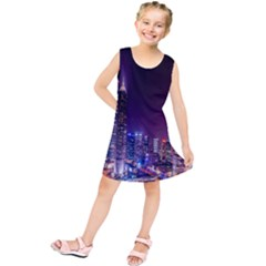 Raised Building Frame Kids  Tunic Dress