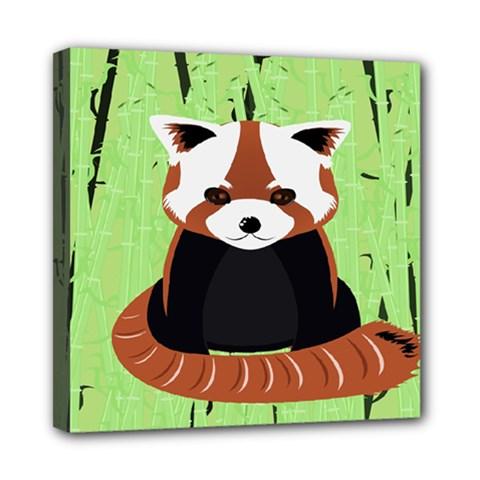 Red Panda Bamboo Firefox Animal Mini Canvas 8  x 8