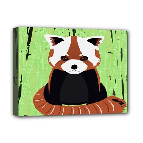 Red Panda Bamboo Firefox Animal Deluxe Canvas 16  x 12