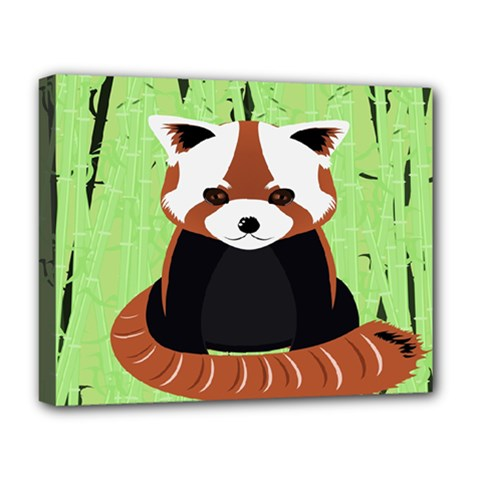 Red Panda Bamboo Firefox Animal Deluxe Canvas 20  x 16