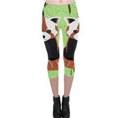 Red Panda Bamboo Firefox Animal Capri Leggings
