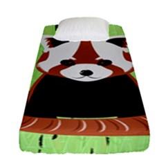 Red Panda Bamboo Firefox Animal Fitted Sheet (single Size)