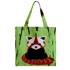 Red Panda Bamboo Firefox Animal Zipper Grocery Tote Bag