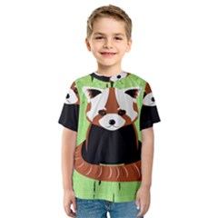 Red Panda Bamboo Firefox Animal Kids  Sport Mesh Tee