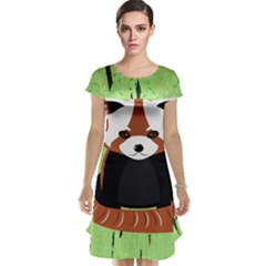 Red Panda Bamboo Firefox Animal Cap Sleeve Nightdress