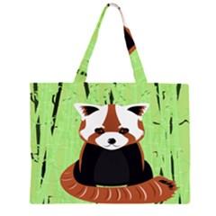 Red Panda Bamboo Firefox Animal Large Tote Bag
