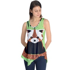 Red Panda Bamboo Firefox Animal Sleeveless Tunic