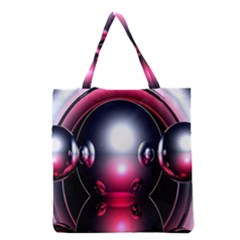 Red 3d  Computer Work Grocery Tote Bag
