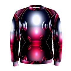 Red 3d  Computer Work Men s Sweatshirt