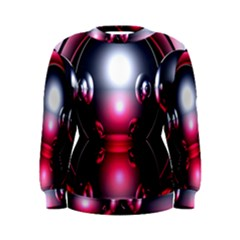 Red 3d  Computer Work Women s Sweatshirt