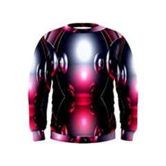 Red 3d  Computer Work Kids  Sweatshirt