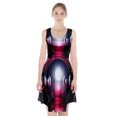 Red 3d  Computer Work Racerback Midi Dress