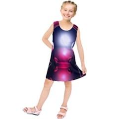 Red 3d  Computer Work Kids  Tunic Dress